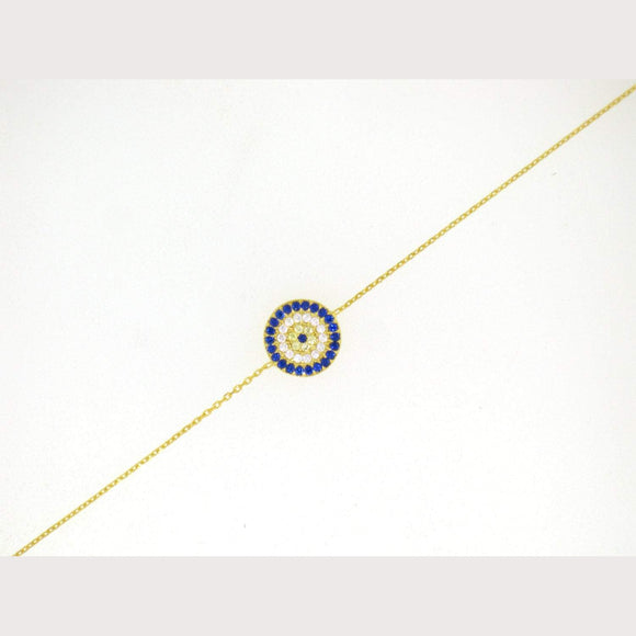 Elegant Evil Eye Bracelet-Yellow Gold
