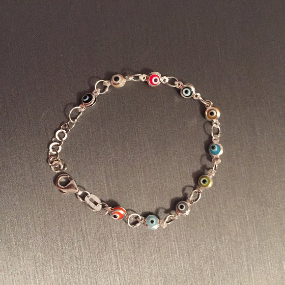 Colorful Baby Evil Eye Bracelet