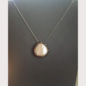 Mother Pearl Crystal Necklace