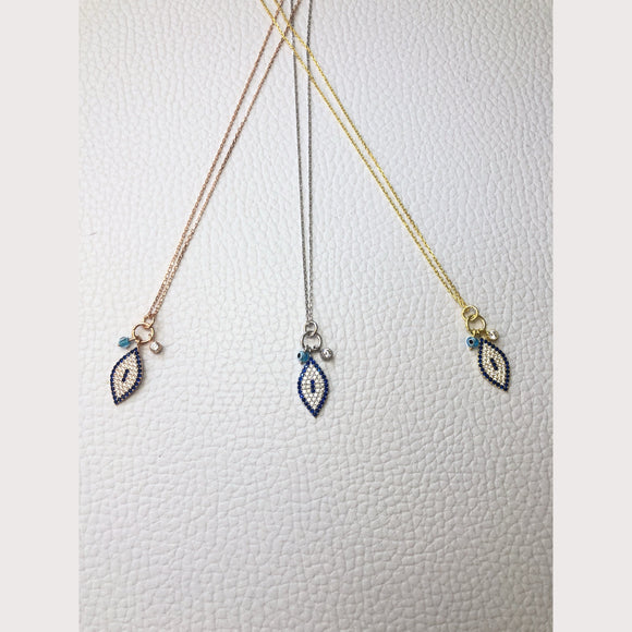 Unique Dangling Evil Eye Necklace