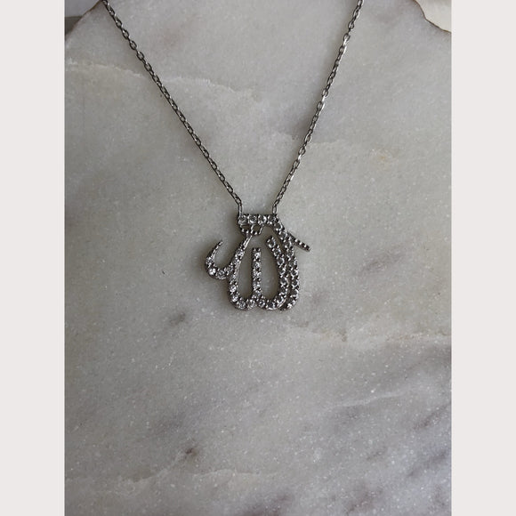 Medium Pave Allah Necklace