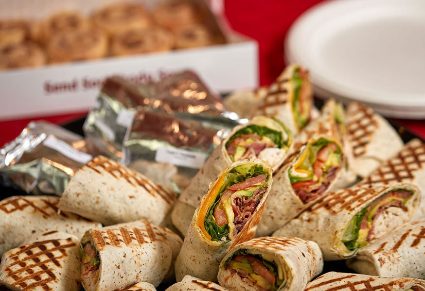 Assorted Lunch Sandwiches & Wraps Platter