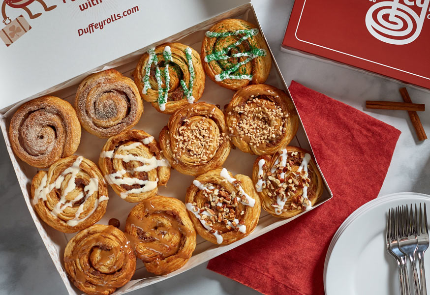 Box of Cinnamon Duffeyrolls