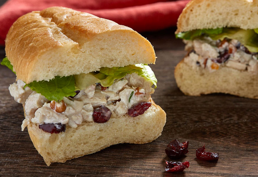 Pecan Cran Chicken Salad Sandwich