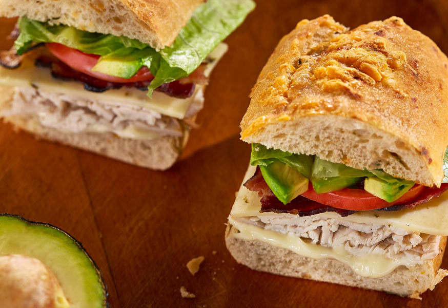 Peppy Turkey Club Sandwich