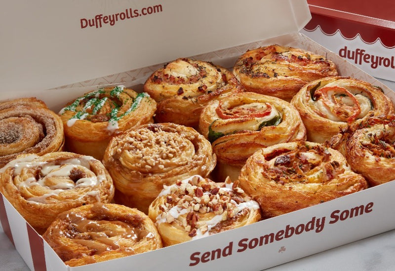 Box of Catering Duffeyrolls