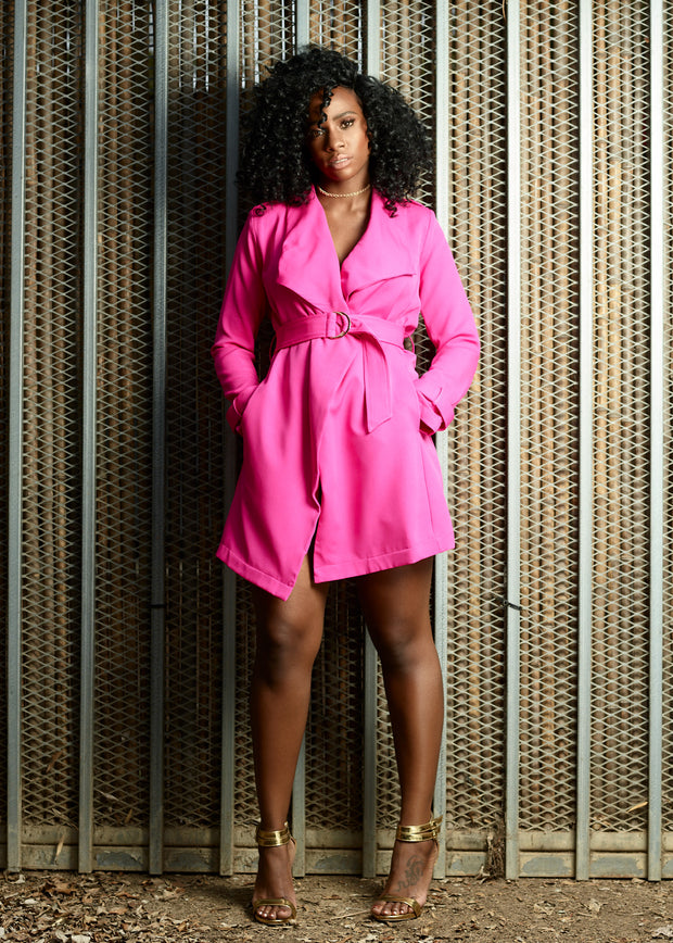 Hot Pink Blazer Dress