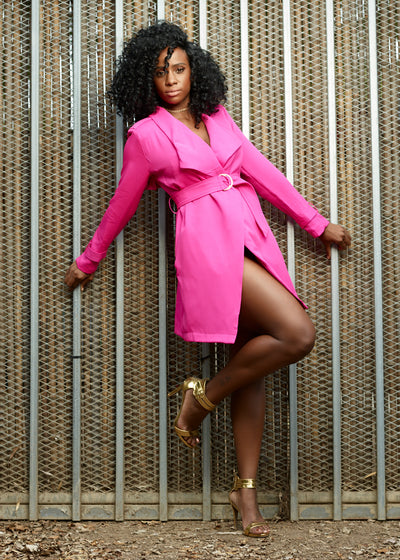 Fuchsia Blazer Dress