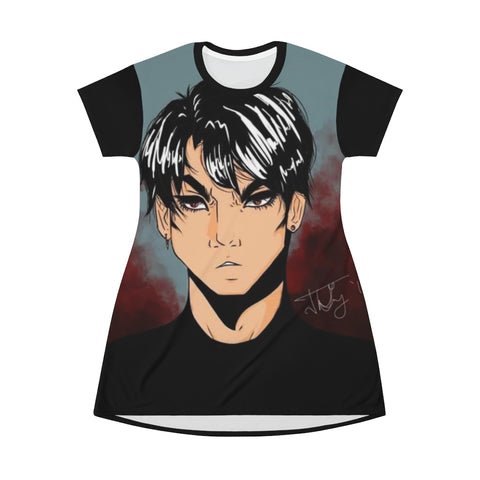 "Torrick - ""brooding boi"" - All Over Print T-Shirt Dress"