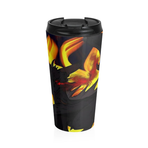 "Dragon Torrick - ""Flame"" - Stainless Steel Travel Mug"