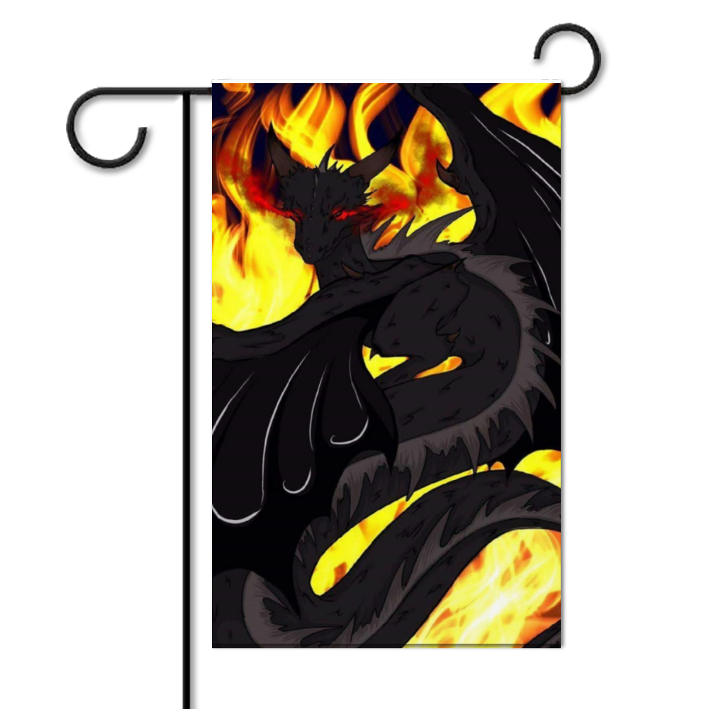 "Dragon Torrick - ""Flame"" - Customizable Double Side Garden Flag 16"" x 30"""