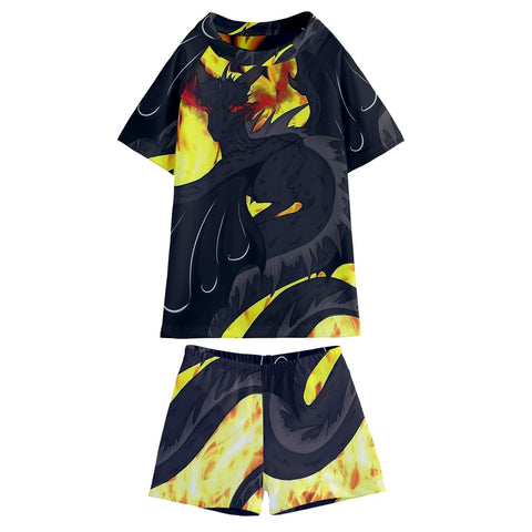 "Dragon Torrick - ""Flame"" - Kids' Swim Tee and Shorts Set"