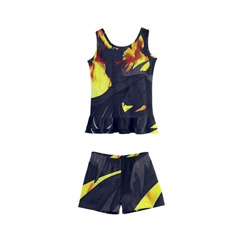 "Dragon Torrick - ""Flame"" - Kids' Boyleg Swimsuit"