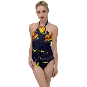 "Dragon Torrick - ""Flame"" - Go with the Flow One Piece Swimsuit"