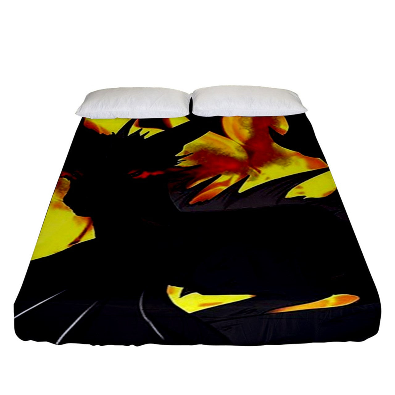 "Dragon Torrick - ""Flame"" - Fitted Sheet (King Size)"