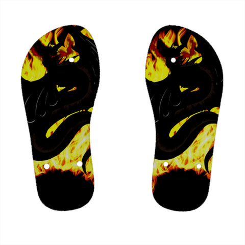 "Dragon Torrick - ""Flame"" - Kids' Flip Flops"