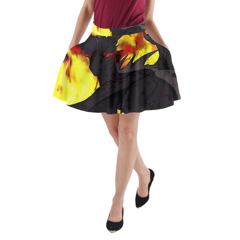 "Dragon Torrick - ""Flame"" - A-Line Pocket Skirt"