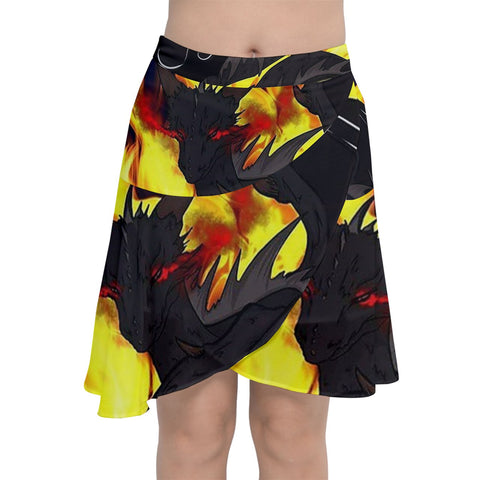 "Dragon Torrick - ""Flame"" - Chiffon Wrap Front Skirt"