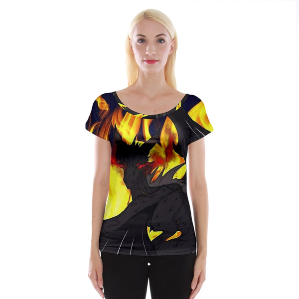 "Dragon Torrick - ""Flame"" - Ladies Cap Sleeve Top"