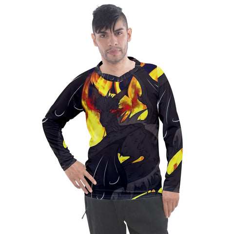 "Dragon Torrick - 'Flame"" - Men's Pique Long Sleeve Tee"
