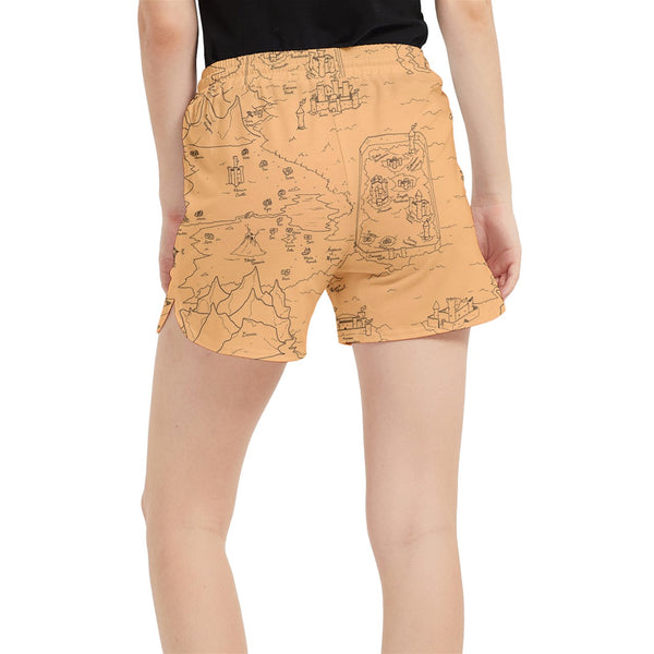 TCoE - Trindavin Map 'parchment' - Runner Shorts