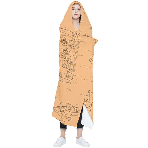 TCoE - Trindavin Map 'parchment' - Wearable Blanket (Adult)