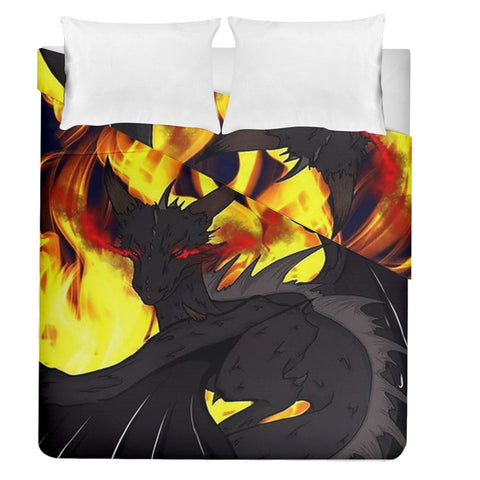 "Dragon Torrick - ""Flame"" - Duvet Cover Double Side (Queen Size)"