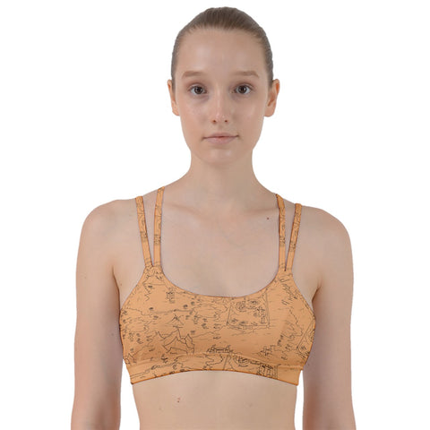 TCoE - Trindavin Map 'parchment' - Line Them Up Sports Bra