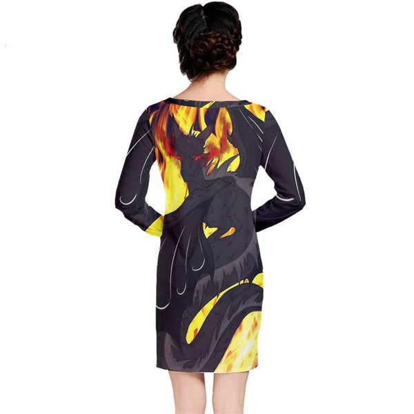 "Dragon Torrick - ""Flame"" - Long Sleeve Nightdress"