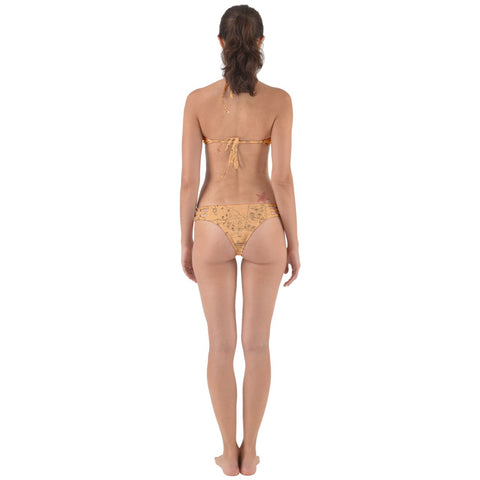 TCoE - Trindavin Map 'parchment' - Perfectly Cut Out Bikini Set