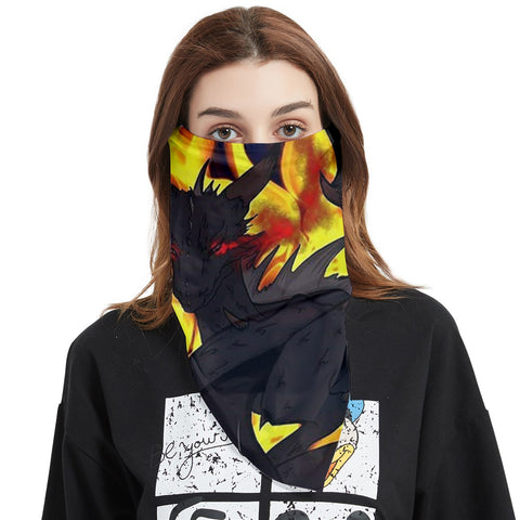 "Dragon Torrick - ""Flame"" - Face Covering Bandana (Triangle)"