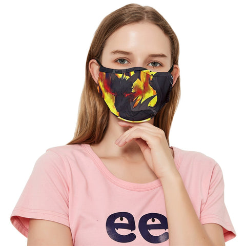 "Dragon Torrick - ""Flame"" - Fitted Cloth Face Mask (Adult)"