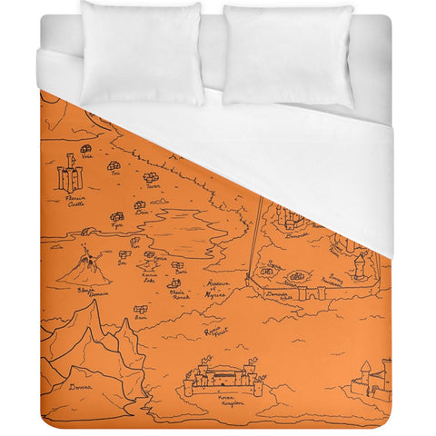 TCoE - Trindavin Map 'parchment' - Duvet Cover (California King Size)