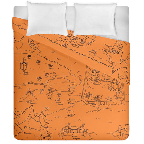 TCoE - Trindavin Map 'parchment' - Duvet Cover Double Side (California King Size)