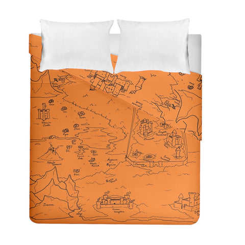 TCoE - Trindavin Map 'parchment' - Duvet Cover Double Side (Full/ Double Size)