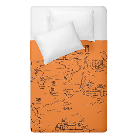 TCoE - Trindavin Map 'parchment' - Duvet Cover Double Side (Single Size)