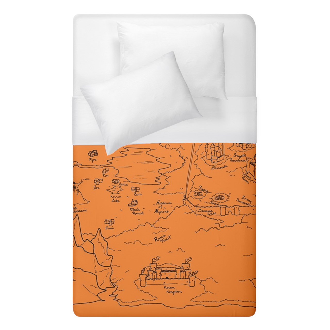 TCoE - Trindavin Map 'parchment' - Duvet Cover (Single Size)