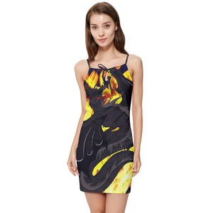 "Dragon Torrick - ""Flame"" - Summer Tie Front Dress"