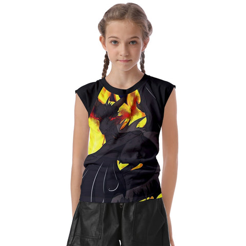 "Dragon Torrick - ""Flame"" - Kids' Raglan Cap Sleeve Tee"