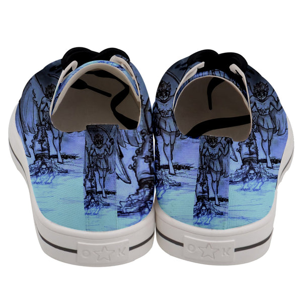 "TSoaGa - Cythia - ""Into The Abyss"" - Men's Low Top Canvas Sneakers"