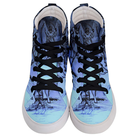 "TSoaGa - Cythia - ""Into The Abyss"" - Ladies Hi-Top Skate Sneakers"