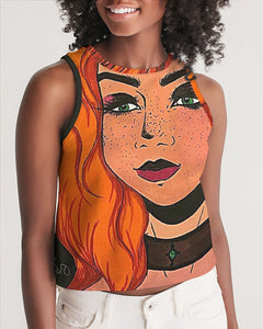 "Cythia - ""Fire"" - Ladies Cropped Tank"