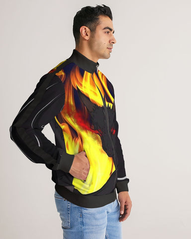"Dragon Torrick - ""Flame"" -  Men's Stripe-Sleeve Track Jacket"