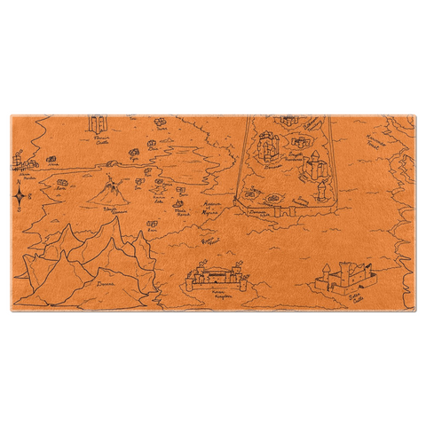 TCoE - Trindavin Map 'parchment' South - Beach Towels