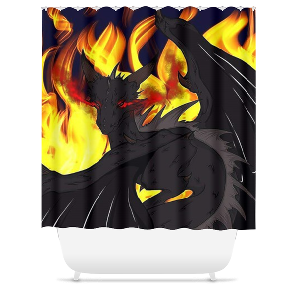 "Dragon Torrick - ""Flame"" - Shower Curtains (4 Sizes)"