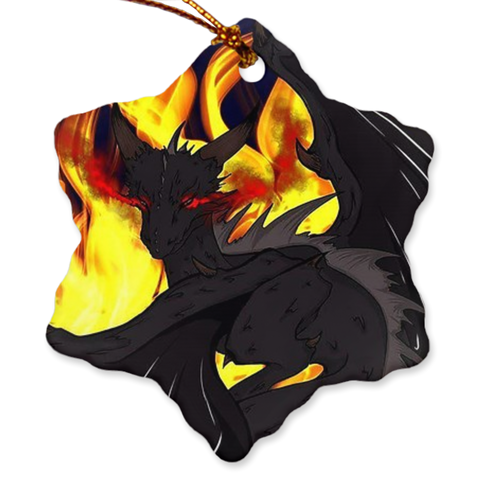 "Dragon Torrick - ""Flame"" - Porcelain Ornaments"