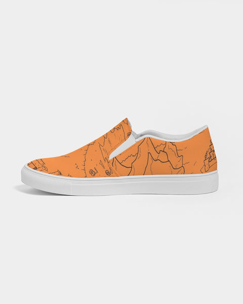 TCoE - Trindavin Map 'parchment' - Men's Slip-On Canvas Shoe