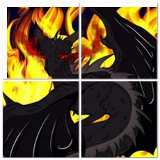 "TCoE - Dragon Torrick - ""Flame"" - Multi Panel Split"
