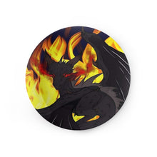 "Load image into Gallery viewer, Dragon Torrick - ""Flame"" - China Plates"
