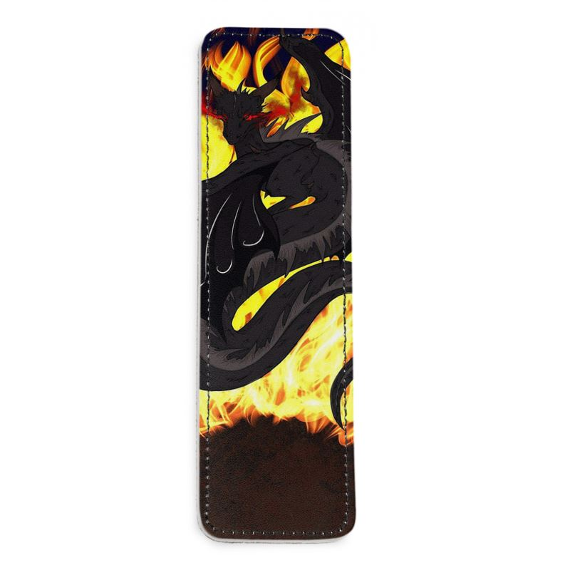 "Dragon Torrick - ""Flame"" - Leather Bookmarks"